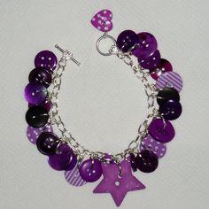 Funkalicious Purple Button Bracelet just £15