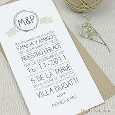 Invitación boda - LOGO | This Is Kool © | www.thisiskool.com