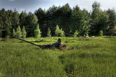 Base de tanques abandonada na Rússia (Foto: BoredPanda)