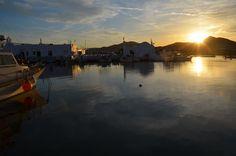 Sunset in Naoussa, Paros
