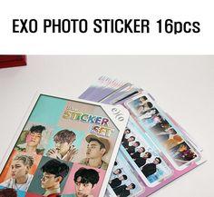 [KPOP] EXO High Resolution Photo Sticker 16 pcs (Pack of 16) Korean Singers