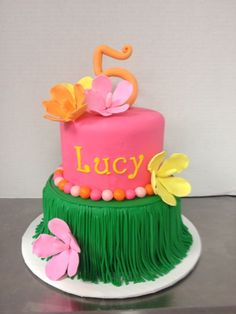 cake in pink, green and yellow with hibiscus. Cake by TracyCakesAR.Luau cake in pink, green and yellow with hibiscus. Cake by TracyCakesAR. Luau Birthday Cakes, Luau Cakes, Moana Birthday Party, Hawaiian Birthday, Hawaiian Luau, Party Cakes, Birthday Parties, Hawaiian Cakes, Birthday Ideas