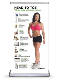 Isagenix Head-to-Toe Mini Table Top Banner - Launch Party Kit  WHOLE BODY WELLNESS SOLUTIONS