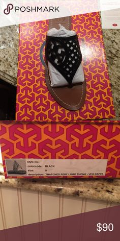 Tory Burch Thatched Perforated thong sandal Brand New in box Tory Burch Shoes Sandals