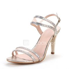 776d874c64e9   39.99  Women s Shoes Net Glitter Summer Fall Toe Ring Sandals Stiletto  Heel Round Toe Rhinestone Split Joint for Wedding Dress Party   Evening