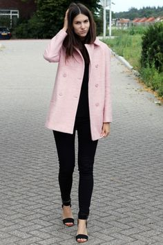 Pink Wool Coat - Zara | Things and Objects | Pinterest | Pink wool ...