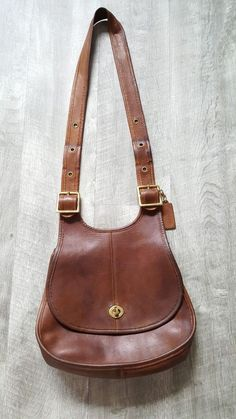 1f9300ee7 Vintage 70s Coach Crescent Saddle Bag Made in New York Brown Leather Purse  #Coach #