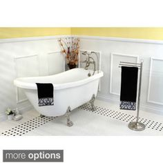 Vintage Collection 67-inch Acrylic Slipper Clawfoot Tub   Overstock.com Shopping - The Best Deals on Claw Foot Tubs