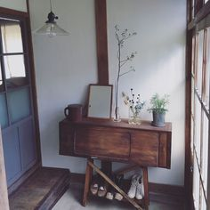 Interior examples such as sofa / old tools / DIY / renovation / vintage Japanese Interior Design, Home Interior Design, Interior Styling, Japanese Style House, Japanese Home Decor, Furniture Layout, Living Room Furniture, Beautiful Living Rooms, Home And Deco