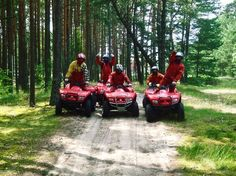 Join and experience an amazing quad bike ride near Riga. It`ll be an adventurous and fun ride through forests of Latvia.