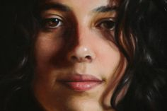 Terry Strickland (detail, oil on canvas over panel)