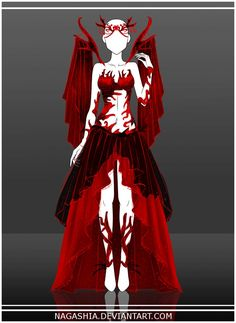 COM: outfit by Nagashia on DeviantArt Clothing Sketches, Dress Sketches, Fashion Sketches, Dress Drawing, Drawing Clothes, Anime Outfits, Cool Outfits, Kleidung Design, Anime Dress