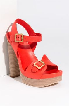 Tory Burch 'Tatum' Platform Sandal - dying for this nectarine color!!!