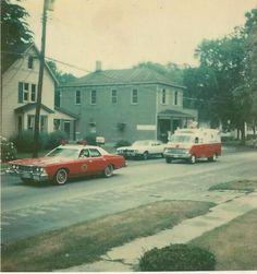 Around 1976 showing West Loveland and awesome old emergency vehicles - Loveland