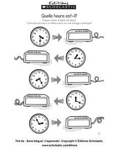 1000 images about fle l 39 heure on pinterest telling time. Black Bedroom Furniture Sets. Home Design Ideas