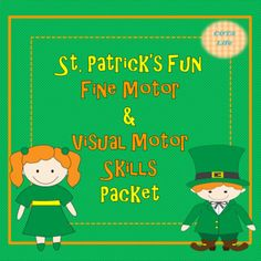Patrick's Fun Fine Motor and Visual Motor Skills Packet Visual Perceptual Activities, Motor Activities, Activities For Kids, Prewriting Skills, Farm Fun, Teacher Resources, Teaching Ideas, Pre Writing, Winter Fun