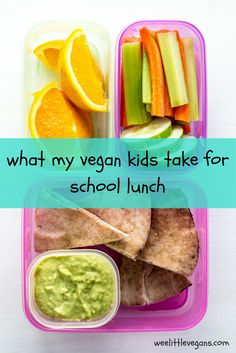 what my vegan kids take for school lunch - Back to school time is almost here and I'm sharing my girls' favorite vegan foods to pack for school lunch along with tips to make sure food isn't wasted!