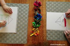Kids love this family drawing game with drawing prompts