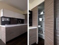 Contemporary Corner Kitchen Pantry
