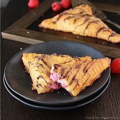 Raspberry Cream Empanadas are easy to make and delicious! by www.cookingwithruthie.com #raspberry #recipe #dessert