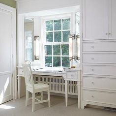 Ravishing Vanity Makeup Table Ikea Decorating Ideas in Closet Traditional design ideas with Ravishing bay window Bedroom closet crystal knobs dressing dressing room jewelry Jewelry Drawer Bedroom Window Dressing, Bay Window Bedroom, Bedroom Windows, Closet Bedroom, Master Closet, Dressing Room, Master Bedroom, Built In Dressing Table, White Dressing Tables