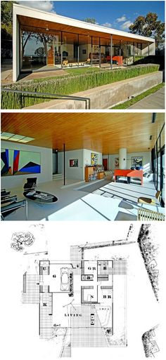 House by Eames & Saarinen via The Case Study Houses at trace blog.