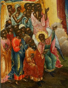 Detail of Israelite Negroes from century Icon Black History Facts, Art History, Ancient History, African History, African Art, Blacks In The Bible, Black Royalty, Black Jesus, Tribe Of Judah