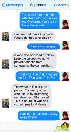Aquaman wants to try the 2016 Olympics...