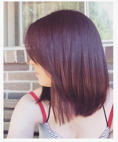 Burgundy hair ❤️