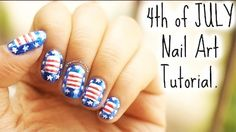 Here's another #4thofJuly #festive #mani for this #holidayweekend Visit site for the #StarsandStripes #howto #tutorial with #StaceyCastanha   #RedWhiteandBlue #patriotic #IndependenceDay #nailart #bbloggers #youtubers 