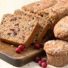 Cranberry-walnut bread is a Thanksgiving standby, a must-have in the bread basket. Cranberry nut muffins are a welcome way to start the festivities first thing in the morning. This recipe can be poured into a loaf pan, or scooped into the wells of a muffin tin; double the recipe, and you can do both!