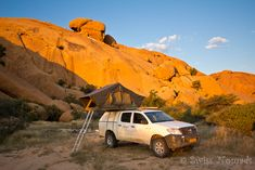 Camping at Spitzkoppe in Namibia