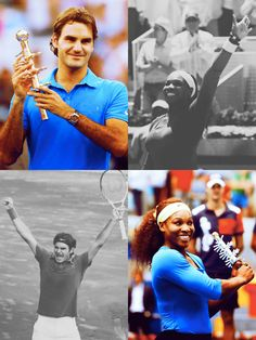 Madrid Open final! Roger Federer & Serena Williams. #tennis