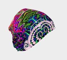 Festival Tuque, Beanie by Iz FromEarth. Unique printed artwork beanie hat, soft fabric outer shell with bamboo lining Beanie Hats, Artwork Prints, Soft Fabrics, Artist, Fashion, Moda, Fashion Styles, Artists, Fashion Illustrations