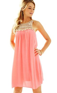 0709438418e Rachelle Dress - Lilly Pulitzer Red Summer Dresses