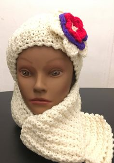 Ready to Ship! Toddler's Aran Flower Ear-warmer/Headband and Scarf Set- Fits Child: 12 months -3 years old by LadyAntoinettDesigns on Etsy https://www.etsy.com/listing/538162306/ready-to-ship-toddlers-aran-flower-ear