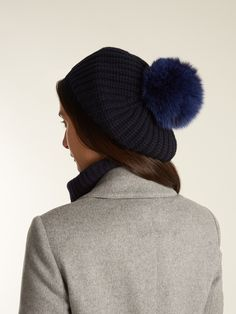 Fur-pompom wool and cashmere-blend beret | Moncler | MATCHESFASHION.COM