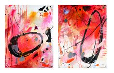 We are all Imperfect Circles. By Alice Boyle. My Mind is in the Margins Series. Paintings. www.aliceboyle.co.uk
