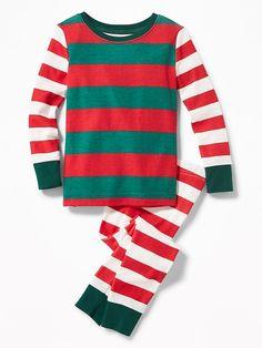 16ef3d25c0a Mixed-Stripe Sleep Set for Toddler   Baby Cute Christmas Pajamas