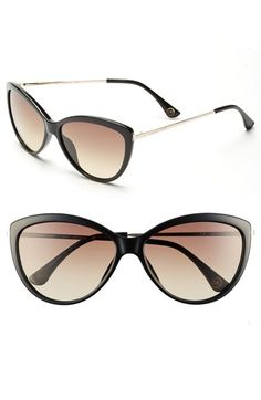 Michael Kors Cat Eye Sunglasses with Gold Ear Piece <3 http://rstyle.me/n/mmsv2mnje