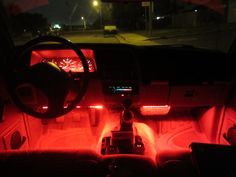 Add some color to your car! #LEDcar