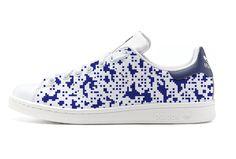 #Custom #StanSmith by LBP #pixel #graphic #camouflage MODEL DEEP BLUE - création unique