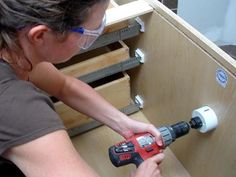 DIYNetwork.com expert Amy Matthews shows how to install a beautiful new vanity and cabinets that combine style with storage.