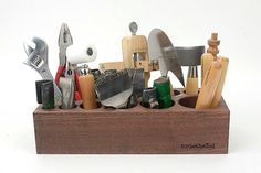 Big size Tool Rack Wooden Design tool Organizer by MyLeatherTool