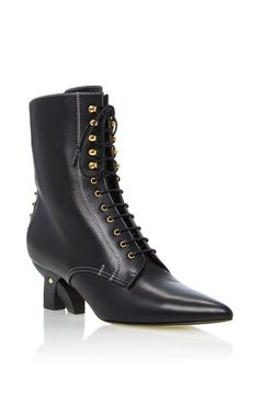 Lace-Up Leather Ankle Boots by Loewe | Moda Operandi