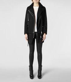 Womens Iggy Biker Coat (Black) | ALLSAINTS.com