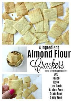 These almond crackers are salty, crispy, and SO easy to make. Homemade crackers are healthier than store bought and this low carb snack has only four ingredients and takes just 15 minutes to make…More 15 Easy Keto Appetizer Ideas Low Calorie Snacks, Keto Snacks, Carb Free Snacks, Candida Diet Recipes Snacks, Anti Candida Recipes, Ketogenic Recipes, Gluten Free Recipes, Low Carb Recipes, Scd Recipes