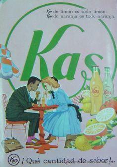 ANUNCIO PUBLICITARIO KAS LIMON-KAS NARANJA-años 1960s