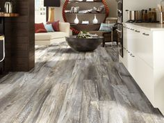 Shaw Floors Elemental Supreme 6 x 36 x Luxury Vinyl Plank (Minimum 1404 Square Feet) (Set of Color: Five Spice Faux Wood Tiles, Wood Tile Floors, Wood Look Tile, Vinyl Plank Flooring, Kitchen Flooring, Laminate Flooring, Basement Flooring, Flooring Ideas, Distressed Wood Floors