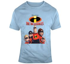 The Incredibles Characters T Shirt Movie T Shirts, Gifts For Friends, The Incredibles, Characters, Mens Tops, Movies, How To Make, Cotton, Stuff To Buy